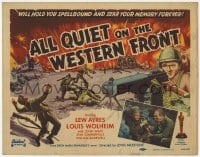 5w008 ALL QUIET ON THE WESTERN FRONT TC R1950 it'll hold you spellbound & sear your memory forever!