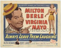 5w010 ALWAYS LEAVE THEM LAUGHING TC 1949 nation's number one funnyman Milton Berle & Virginia Mayo!