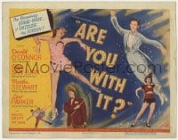 5w012 ARE YOU WITH IT TC 1948 Donald O'Connor, Olga San Juan, Broadway stage-rage dazzles the screen