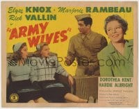 5w013 ARMY WIVES TC 1944 Elyse Knox, Marjorie Rambeau, World War II Home Front!