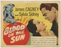 5w022 BLOOD ON THE SUN TC 1945 James Cagney in fight, plus close up with sexy Sylvia Sidney!