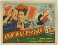 5w027 BRINGING UP FATHER TC 1946 Joe Yule as Jiggs & Renie Riano as Maggie, George McManus art!