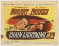 5w035 CHAIN LIGHTNING TC 1949 great image of military test pilot Humphrey Bogart & Eleanor Parker!