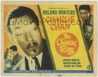 5w039 CHINESE RING TC 1948 great close up of Asian detective Roland Winters, Mantan & Sen Young!