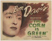 5w041 CORN IS GREEN TC 1945 Bette Davis lives in a Welsh mining town, from the stage play!