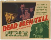 5w046 DEAD MEN TELL TC 1941 Sidney Toler as Charlie Chan aboard a treasure ship w/a pirate's ghost!