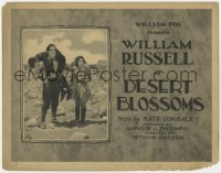 5w049 DESERT BLOSSOMS TC 1921 William Russell holds young boy on shoulders in desert with Ferguson!