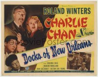 5w053 DOCKS OF NEW ORLEANS TC 1948 Roland Winters as Charlie Chan, Victor Sen Yung, Mantan Moreland