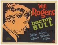 5w054 DOCTOR BULL TC R1937 directed by John Ford, cool art of Will Rogers as a country doctor!