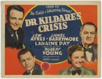 5w057 DR. KILDARE'S CRISIS TC 1940 Lew Ayres, Lionel Barrymore, Robert Young & pretty Laraine Day!