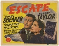 5w061 ESCAPE TC 1940 American Robert Taylor is helped by Nazi's mistress Norma Shearer!