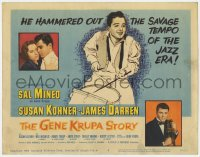 5w070 GENE KRUPA STORY TC 1960 Sal Mineo is Gene Krupa, hammering out the tempo of the Jazz Era!