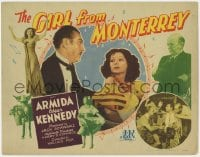 5w071 GIRL FROM MONTERREY TC 1943 Armida, Edgar Kennedy, great inset boxing image!