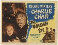 5w074 GOLDEN EYE TC 1948 Roland Winters as Charlie Chan, Victor Sen Young & Mantan Moreland!