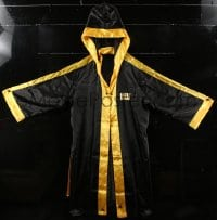 6a075 ROCKY BALBOA silk gown and shorts 2006 black and gold design, ready to step into the ring!
