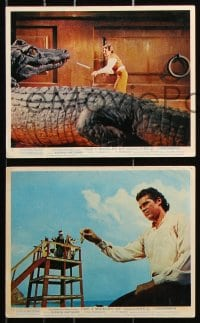 6d081 3 WORLDS OF GULLIVER 7 color English FOH LCs 1960 Harryhausen classic, giant Kerwin Mathews!