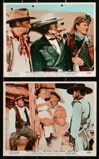 6d026 ALAMO 8 color English FOH LCs R1967 Richard Widmark & Harvey in the Texas War of Independence!