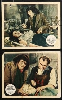 6d031 BLOOD OF THE VAMPIRE 8 color English FOH LCs 1958 Donald Wolfit, Maddern & Barbara Shelley!