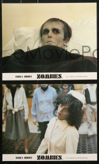 6d037 DAWN OF THE DEAD 8 color English FOH LCs 1979 George Romero, best different zombie images!