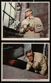 6d043 FUNERAL IN BERLIN 8 color English FOH LCs 1967 Michael Caine as Harry Palmer, ultra-rare!