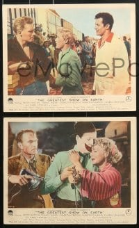 6d045 GREATEST SHOW ON EARTH 8 color English FOH LCs 1952 James Stewart, Betty Hutton & Kelly!
