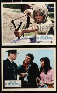 6d046 GYPSY GIRL 8 color English FOH LCs 1966 Hayley Mills & McShane, John Mills, Sky West & Crooked!