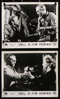 6d002 HELL IS FOR HEROES 8 English FOH LCs 1962 Steve McQueen, Bob Newhart, Don Siegel, rare!
