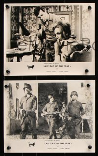 6d016 LAST DAY OF THE WAR 3 English FOH LCs 1969 World War II soldier George Maharis!