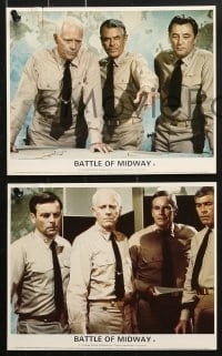 6d054 MIDWAY 8 color English FOH LCs 1976 Charlton Heston, Battle of Midway, Jack Smight, WWII!