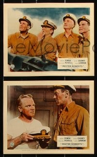 6d055 MISTER ROBERTS 8 color English FOH LCs 1955 Henry Fonda, James Cagney, Powell, John Ford!