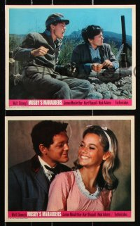 6d057 MOSBY'S MARAUDERS 8 color English FOH LCs 1967 James MacArthur, Jack Ging in title role!