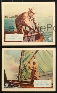 6d059 OLD MAN & THE SEA 8 color English FOH LCs 1959 John Sturges, Spencer Tracy, from Ernest Hemingway!