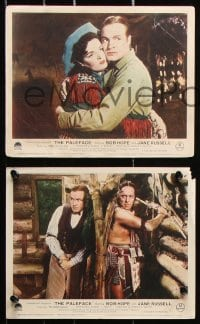 6d060 PALEFACE 8 color English FOH LCs 1948 Bob Hope, sexy Jane Russell, a perfect team, ultra-rare!
