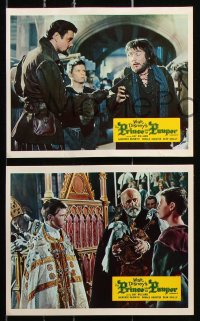 6d063 PRINCE & THE PAUPER 8 color English FOH LCs 1962 Guy Williams in title role, Naismith, Houston!