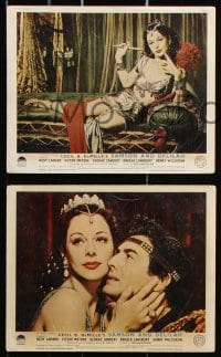 6d067 SAMSON & DELILAH 8 color English FOH LCs 1950 Hedy Lamarr & Victor Mature, Cecil B. DeMille