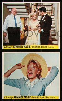 6d071 SUMMER MAGIC 8 color English FOH LCs 1963 Hayley Mills, Burl Ives, Dorothy McGuire, Walley!