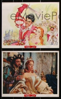 6d024 SWORD & THE ROSE 10 color English FOH LCs 1953 Disney, Richard Todd, Jane Barrett, dancing!