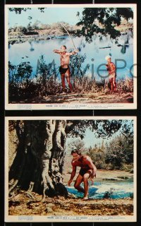6d073 TARZAN GOES TO INDIA 8 color English FOH LCs 1962 Jock Mahoney as the King of the Jungle!