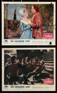 6d077 VAGABOND KING 8 color English FOH LCs 1956 great images of pretty Kathryn Grayson & Rita Moreno!