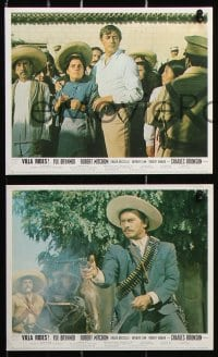 6d078 VILLA RIDES 8 color English FOH LCs 1968 Brynner as Pancho & Robert Mitchum, Peckinpah!