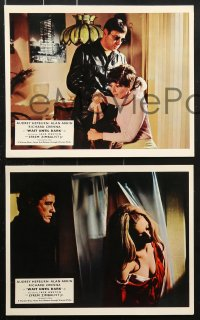 6d079 WAIT UNTIL DARK 8 color English FOH LCs 1968 blind Audrey Hepburn is terrorized by Alan Arkin!