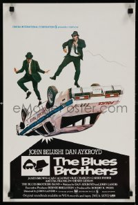 6f279 BLUES BROTHERS Belgian 1980 John Belushi & Dan Aykroyd are on a mission from God!