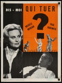 6f039 TELL ME WHOM TO KILL Canadian 1965 deadly sexy French Michele Morgan, Dis-moi qui tuer!