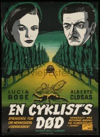 6f072 AGE OF INFIDELITY Danish 1956 Juan Antonio Bardem directed, Mailind art, Death Of A Cyclist!