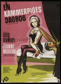 6f077 DIARY OF A CHAMBERMAID Danish 1965 Jeanne Moreau, directed by Luis Bunuel, Stevenov art!