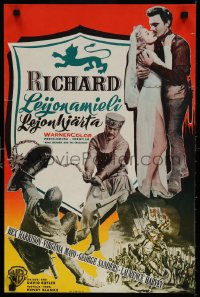 6f245 KING RICHARD & THE CRUSADERS Finnish 1955 Rex Harrison, Virginia Mayo, different!
