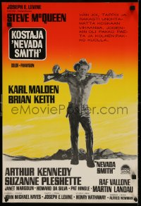 6f252 NEVADA SMITH Finnish 1967 different Aage Lundvald artwork of Steve McQueen!