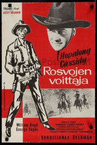 6f264 SUNSET TRAIL Finnish 1939 completely different images of Boyd as Hopalong Cassidy!