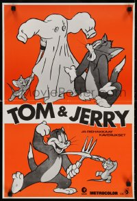 6f269 TOM & JERRY Finnish 1970s cool art from classic cat & mouse rivalry!