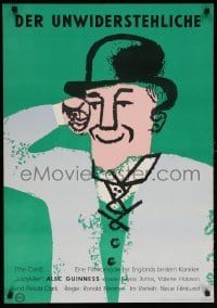 6f055 PROMOTER German 1957 The Card, Alec Guinness, Glynis Johns, Hans Hillmann!